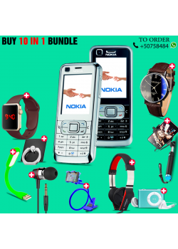 10 in 1 Bundle Offer, Nokia 6120 Mobile Phone, Portable USB LED Lamp, Wired Earphones, Ring Holder, Headphone, Mobile Holder, Macra Watch, Yazol Watch, Selfie Stick, Mp3 Player