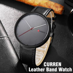 Curren Genuine Leather Band Watch For Unisex, M8223