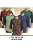 Hype 5 Pcs Unisex 3/4 Cotton T-Shirt, Assorted Colors