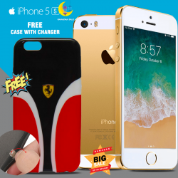 Apple iPhone 5S 16GB Free Ferrari Scuderia Red Hard Case For iPhone 5s With Charger