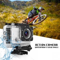 Bison Sports Action Camera Ultra HD Waterproof Diving Helmet Video Car DVR Pro