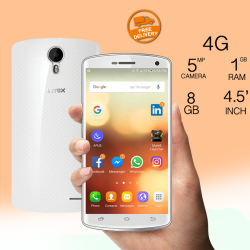 INTEX Cloud Glory, 8GB, 4G LTE, Dual Sim, White