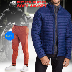 Tracker Men's High Quality Soft Jacket, With Free Track Pant, HD77