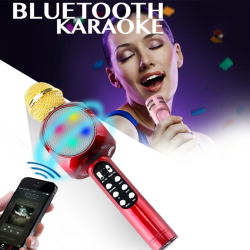Wster Wireless Bluetooth Mini KTV Karaoke Microphone + Speaker for PC and Phone, WS-878