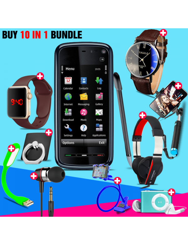 10 in 1 Bundle Offer , Nokia 5233 Xpressmusic Mobile Phone