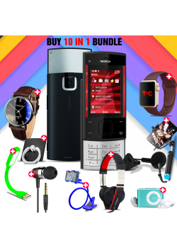 10 in 1 Bundle Offer , Nokia X3 Mobile Phone ,Portable USB LED Lamp, Wired Earphones, Ring Holder, Headphone, Mobile Holder, Macra Watch, Yazol Watch, Selfie Stick, Mp3 Player