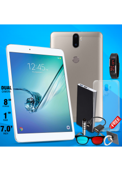 C idea, Tablet 7 Inch, With 7 items Free Android 4.2.2, 8GB, Wi-Fi, Dual Core, Dual Camera
