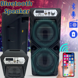 Karaoke High Bass Wireless Bluetooth Speaker With Micro SD / TF / USB Flash And FM Radio Support, Assorted Color, KTX1052