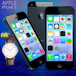 APPLE IPHONE 5,16GB FREE YAZOLE CASUAL WATCH