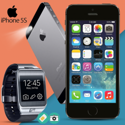 Apple iPhone 5S 16GB - R,  With Lenosed Smart Watch