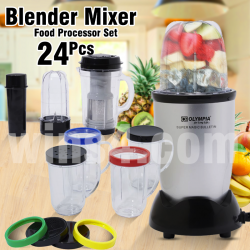 Super Magic Bulletin High Speed Blender Mixer 24 Pcs Food Processor Set, OE-9966