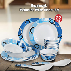 Royalmark 22 Pcs Melamine Ware Dinner Set, 9722