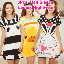 Beauty Brand 8 Pcs Assorted Design Half Sleeve Ladies Nightwear, MR63