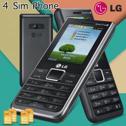 LG-A395 4 Sim  Phone, Black