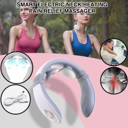 Smart Electric Neck Heating Pain Relief Tool 3D Wireless Deep Tissue Health Body Massager, VS022