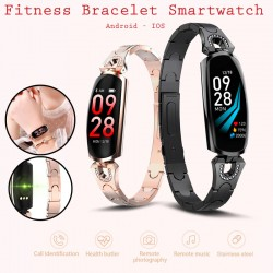 AK16 Women Heart Rate Monitor For Android IOS Phone Fitness Bracelet Smartwatch