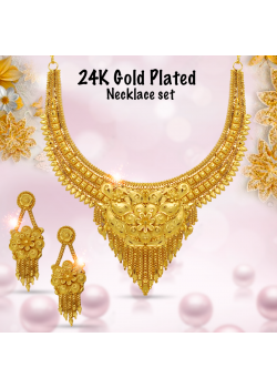 AH Gold Fashion 24K Gold Plated Indian Design Necklace Kite, FC3325