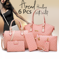 Arcad Fashion 6 Pcs High Quality Candy Handbag With Wallet, 34492