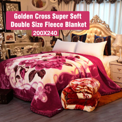 Golden Cross Super Soft Double Size Fleece Blanket 200X240 Assorted Design And Colours, G021