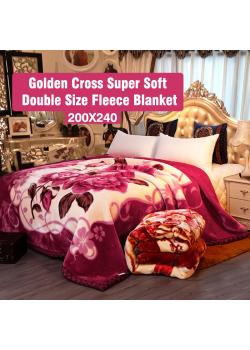 Golden Cross Super Soft Double Size Fleece Blanket 200X240 Assorted Design And Colours, G021