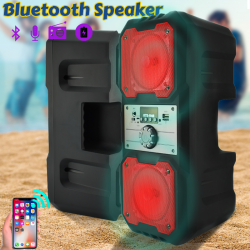 Karaoke High Bass Wireless Bluetooth Speaker With Micro SD / TF / USB Flash And FM Radio Support, KTS-1048