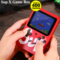 Retro Handheld Game Console Emulator Built-in 400 Classic Game, Sup X Game Box, BEST GIFT FOR CHILDREN