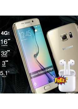 Samsung Galaxy S6 Edge G925R, Free Hbq I7s Mini Twins Wireless Bluetooth Mini Dual Earpod