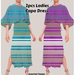 Royal Capa Assorted Design 2pcs Ladies Capa Dress, RC5