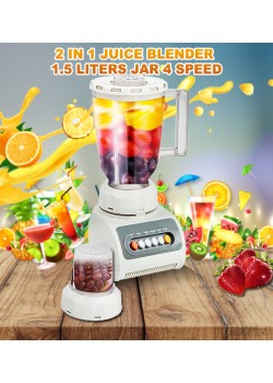 Top Sonic 2 in 1 Juice Blender 1.5 Liters Jar 4 Speed 350W, TS999