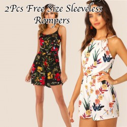 Dream Brand Ladies Assorted Color & Design Free Size 3pcs Sleeveless Rompers, DB62