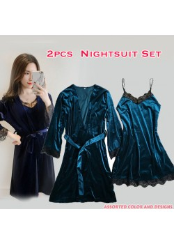 Vicky Fashion 2pcs Three Quarter Assorted Color Nightsuit Set, V858