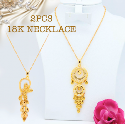 2Pcs Milano 18k Gold Plated Necklace, ML70