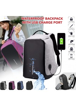 2  in 1 Ledmomo Anti-Theft Backpack With USB Charge Port Concealed Zippers And Larger Volume Capacity Lightweight Waterproof For School Travel Bag, Free Airpod