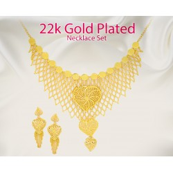 Milano 22K Gold Plated Necklace Set, ML1134