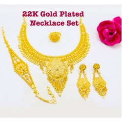 Royal Gold 22K Gold Plated Necklace Set, R60 - 12314
