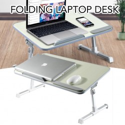 Folding Laptop Desk Notebook with Cooling Fan Adjustable Lift Table for Dining Working Study Desk