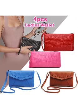 4pcs Assorted Color & Design Ladies Wallet, JJ55