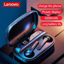 Lenovo QT81 Bluetooth Wireless LED Power Display 1200mAh HiFi Stereo Bass Waterproof Sport Headset, QT81