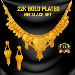 Fashion Plus Indian Design 22K Gold Plated Necklace Set, FP115