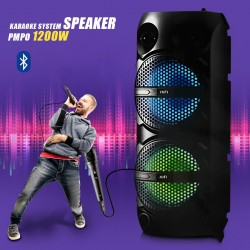 Mobile Rechargeable RX-6208 Multimedia Bluetooth Karaoke System Speaker