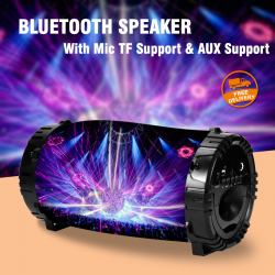 Universal Multi-Color Portable High Bass Stereo Wireless Bluetooth Speaker With Mic TF Support & AUX Support, Assorted Design, J-133