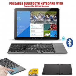 Jelly Comb Foldable Bluetooth Keyboard With Touchpad For Mobile&computer, Esc009