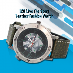 I20 Live The Sport Genuine Leather Fashion Watch For Men, 8520CD