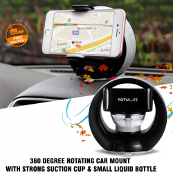 Totu Life 360 Degree Rotating Car Mount With Strong Suction Cup & Small Liquid Bottle, TT07