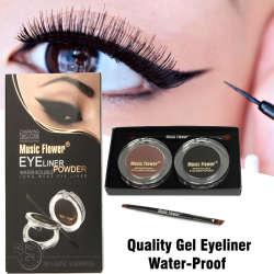 Music Flower High Quality Gel Eyeliner Water-proof And Smudge-proof Cosmetics Set Eye Liner Kit in Eye Makeup, MK5263