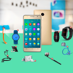 Dream 10 In 1 Bundle Offer, Kagoo S8 mini Smartphone, Portable USB LED Lamp, Zipper Stereo Wired Earphones, Ring Holder, Mobile holder, Macra watch, Yazol watch, Selfie stick, Mp3 player, Led band watch