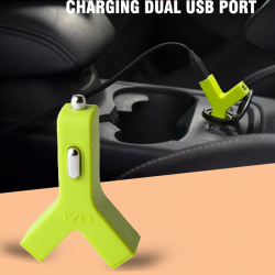 TYTL Y-Charge Car Charger, 4.2A Rapid Charging With Dual USB Port, Y-2