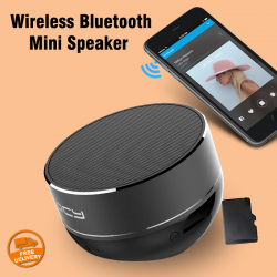 Qcy Wireless Bluetooth Mini Speaker With Memory Card Support, QCY45