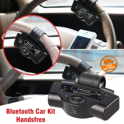 Steering Wheel Bluetooth Car Kit Handsfree Built in Microphone Speaker 300mAh Li-ion Battery Support Dual Standby TTS A2DP Function, BT-8109B