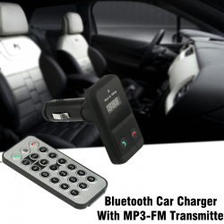 Bluetooth Car Charger With MP3-FM Transmitter, BT3
